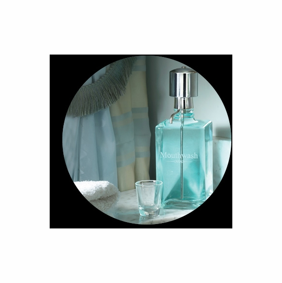 Mouthwash Decanter with Dispenser Pump