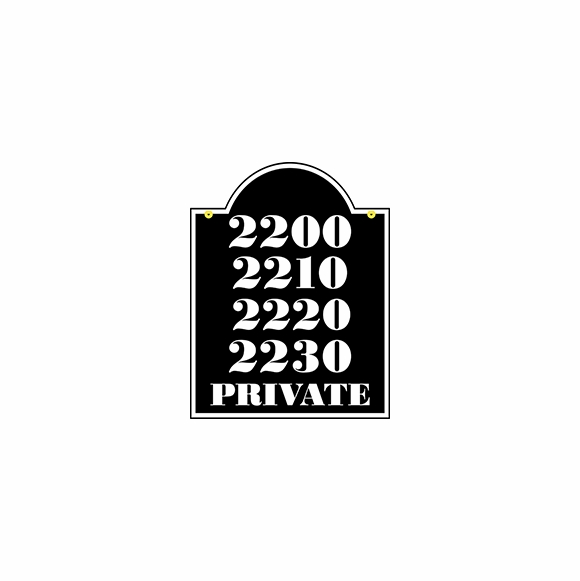 Multi Unit Address Plaque - Extra Large Two Sided Hanging Sign For Multiple House Numbers