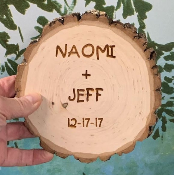 Names On A Tree Log