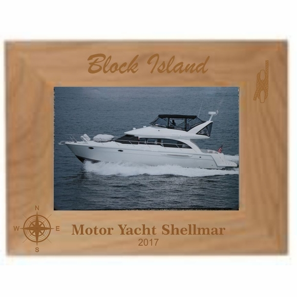 Nautical Location Custom Engraved Personalized Picture Frame