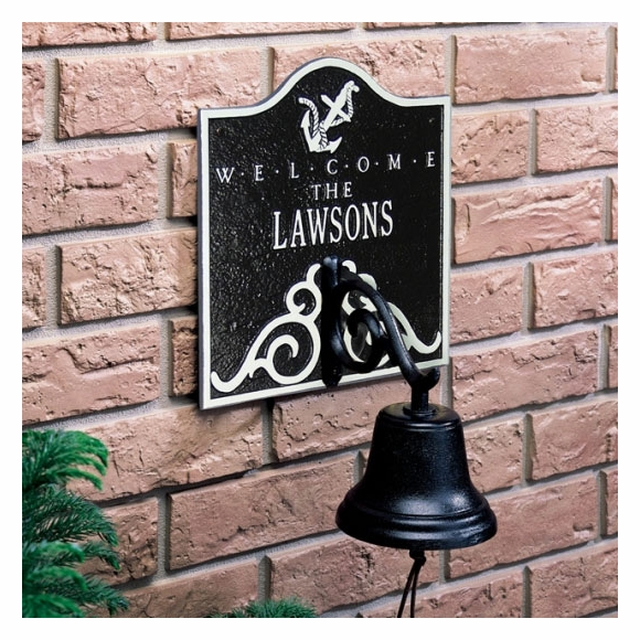 Nautical Welcome Plaque with Bell