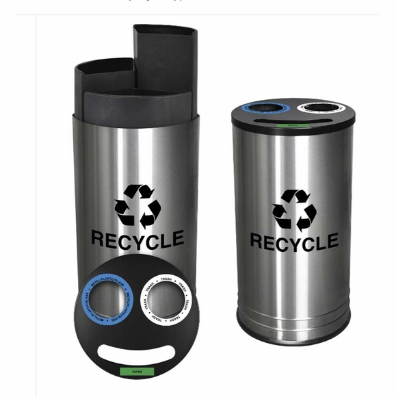3 Stream Recycling Receptacle That Meets NYC Requirements