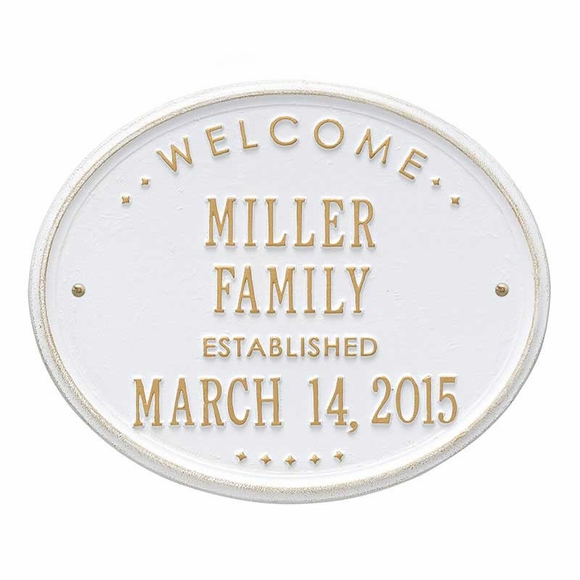 Welcome Family Name Established Date Sign