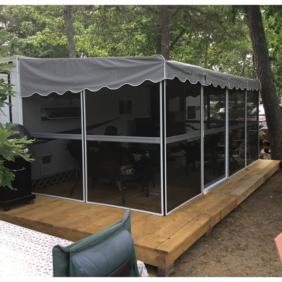 Patio Screens : Patio Mate Screened Enclosure 1 sliding door 8'6