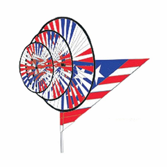 Patriotic Red White and Blue Flag Theme Wind Spinner