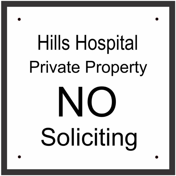 Personalized No Soliciting Sign or Property Policy Sign