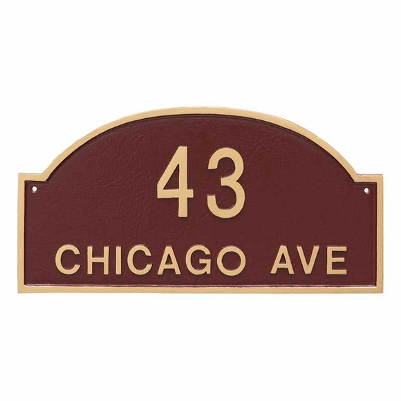 Arch Address Plaque - 2 Line Address Sign