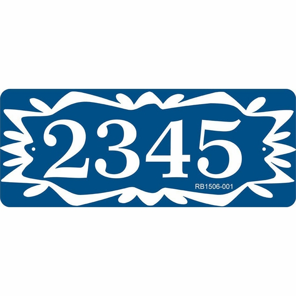 Personalized Address Sign with Folk Art Border