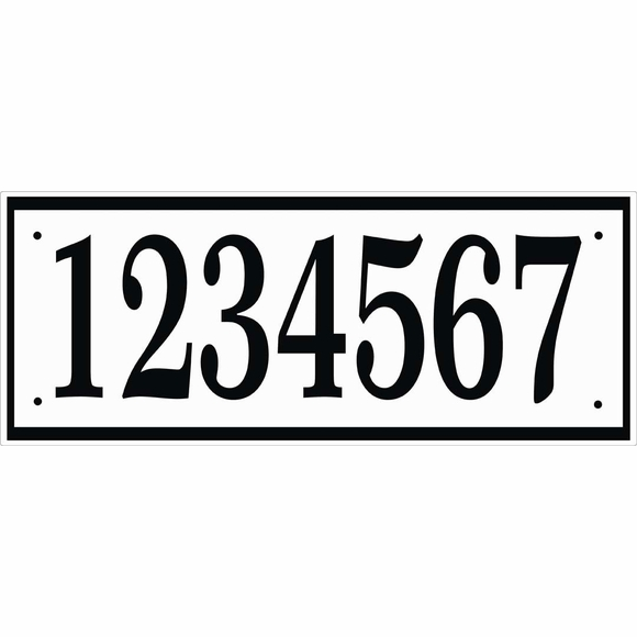 Personalized House Number Sign - Wide Plaque For Up To 7 Numbers