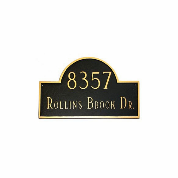 Arch Address Plaque With 2 Lines - Custom House Number Sign - Choose Your Size and Color