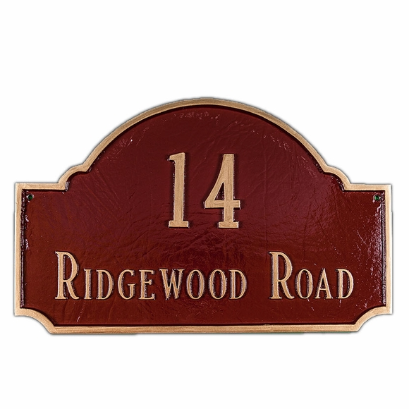 Personalized 2 Line Decorative Arch Address Sign