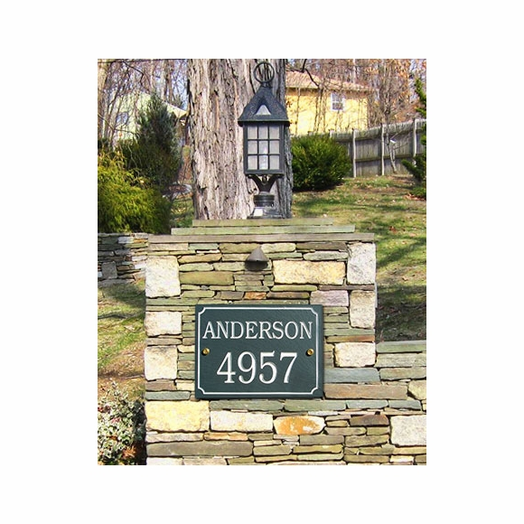 Slate Home Address Sign