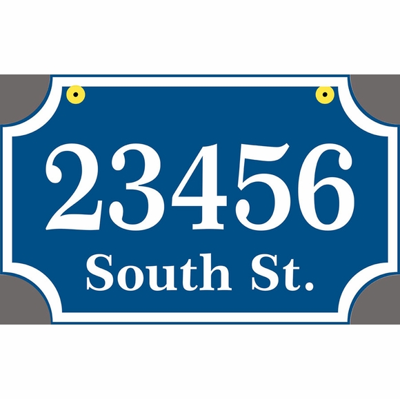 Two Sided Rectangle Hanging Address Sign - House Number and Street Name on Both Sides