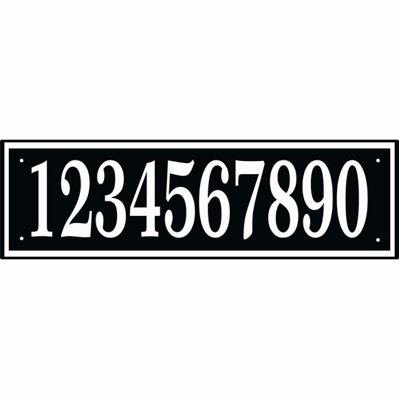 Personalized House Number Sign - Wide Plaque For Up To 10 Numbers