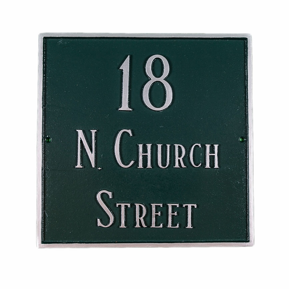 Large Square Address Sign - Custom Plaque