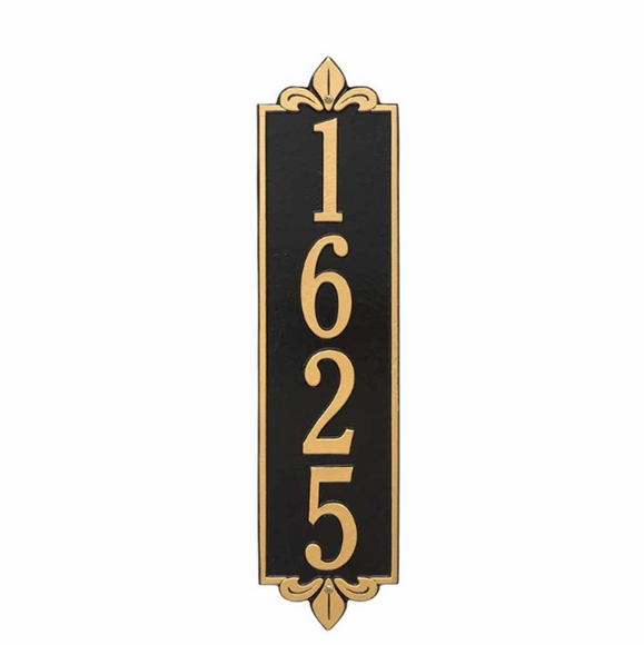 Extra Large Vertical House Number Plaque