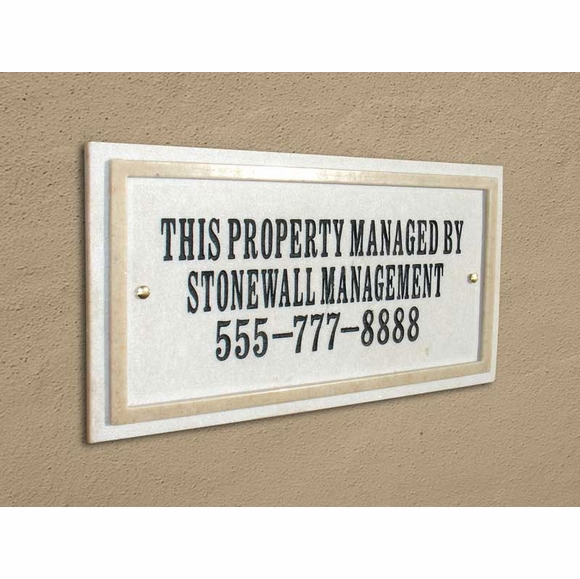 Personalized 3 Line Business Property Sign or Address Plaque