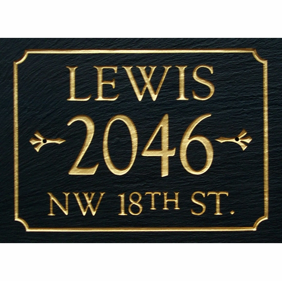 Slate Address Sign With Three Lines