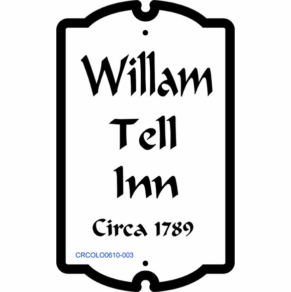 Colonial Style Historic Sign Personalized With 4 Lines