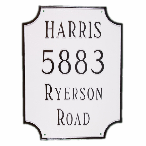 Personalized 4 Line Rectangle Address Sign