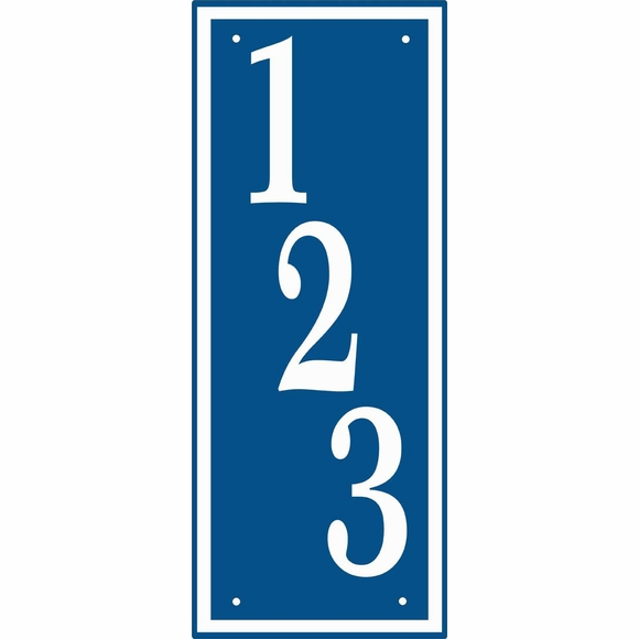 Personalized Vertical Address Plaque
