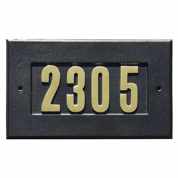 Personalized Address Plaque For Column Mailbox