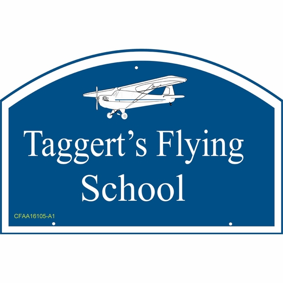 Personalized Address Plaque or Business Name Sign with Airplane
