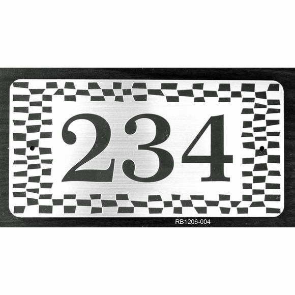 Personalized Address Plaque with Checkerboard Border