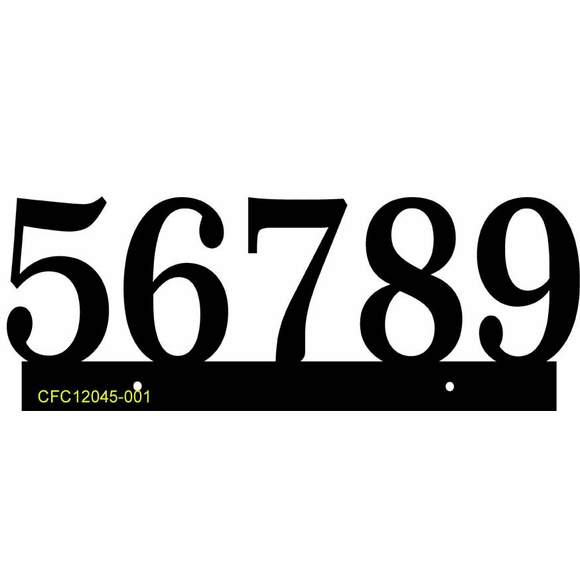 Personalized Address Plaque with Floating Numbers