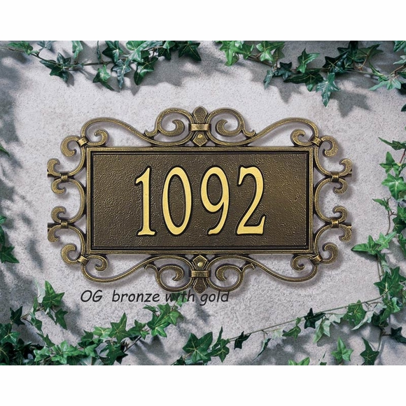Personalized Address Plaque with Fretwork Frame