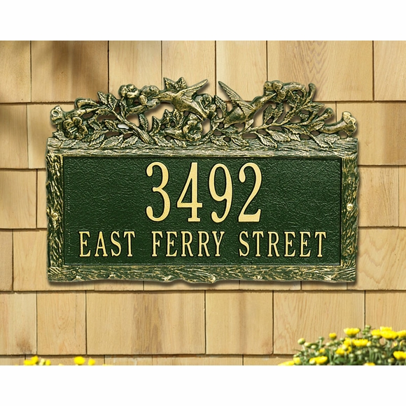 Address Plaque with Hummingbirds
