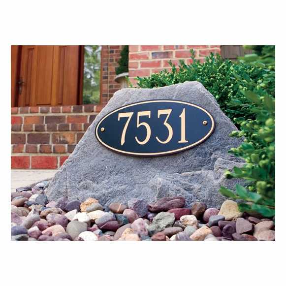Address Rock With House Number