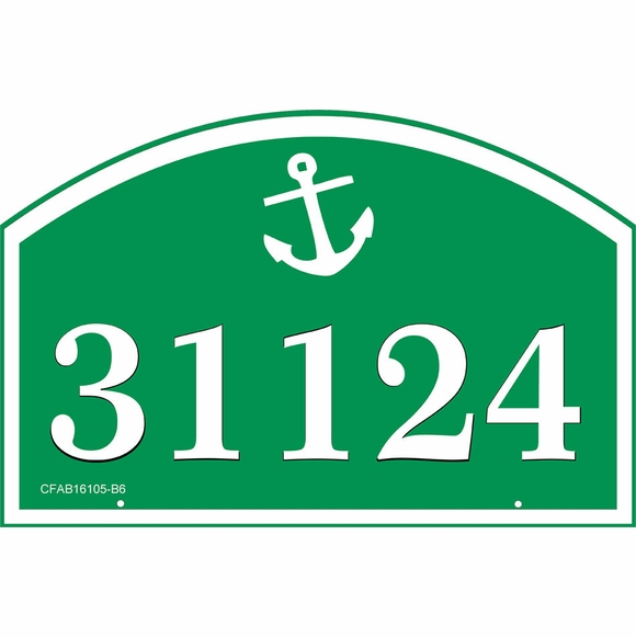 Address Sign with Boating or Nautical Theme