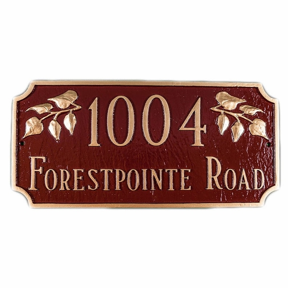 Personalized Address Sign with House Number Between Ivy Leaves