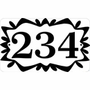 Personalized Address Sign with Stencil Art