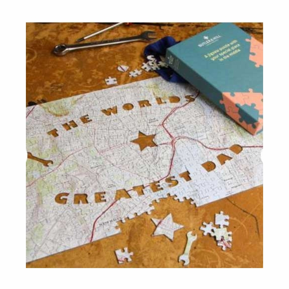 Personalized Address World's Greatest Dad Jigsaw Puzzle