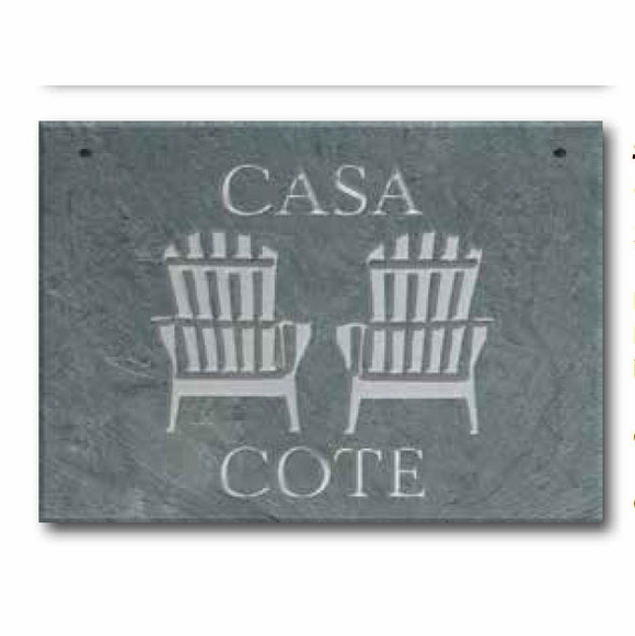 Personalized Adirondack Chair Slate Address Sign