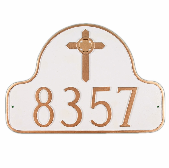 Personalized Arch Address Sign with Celtic Cross