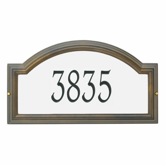 Personalized Arch Reflective Address Plaque
