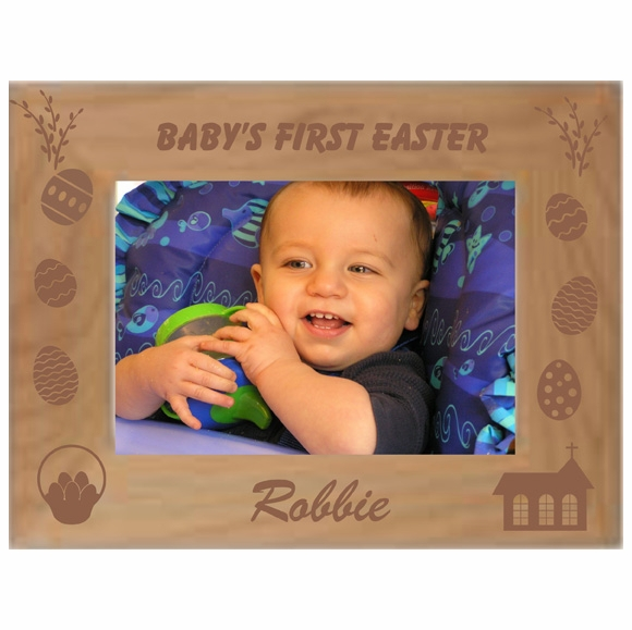 Personalized Custom Engraved Baby's First Easter Picture Frame