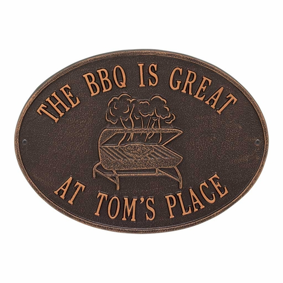 Personalized Grilling Wall Plaque - Custom BBQ Sign With Name Or Message