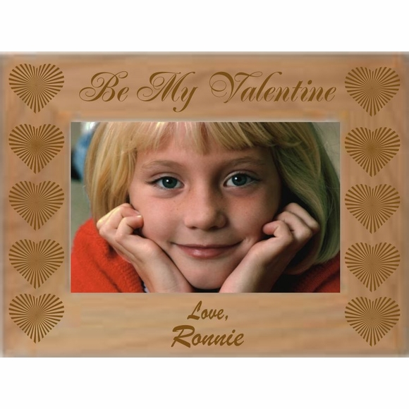 Personalized Be My Valentine Custom Engraved Picture Frame