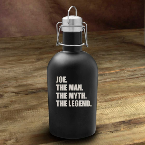 Personalized Beer Growler - The Man. The Myth. The Legend