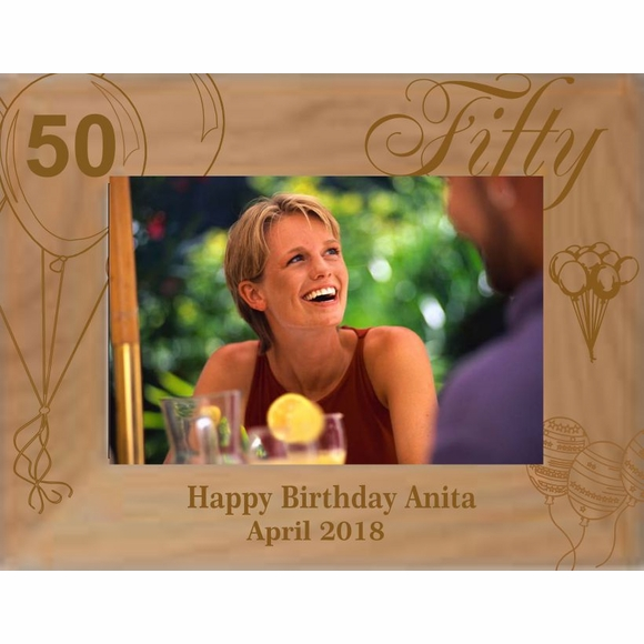 Personalized Birthday Picture Frame - Select Year including 21st, 30th, 40th, 45th, 50th, 60th, 70th, 80th