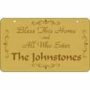 Personalized Bless This House Sign With Family Name