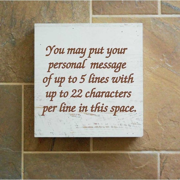 Personalized Blessing Wall Box Customized with Your Own Saying - Hanging Wall Art or Tabletop Decor