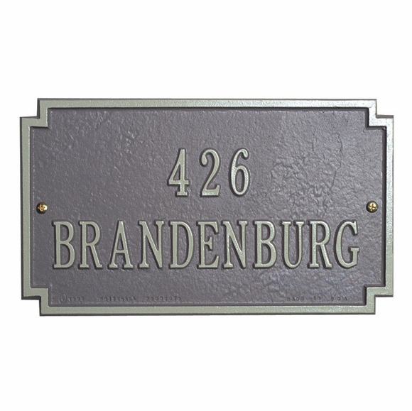 Address Plaque - Cut Out Corner Rectangle House Number Sign - Choose Your Color