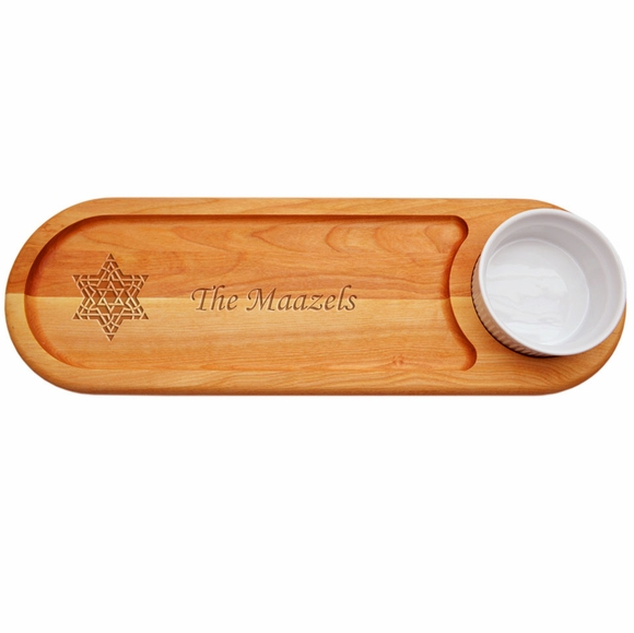 Personalized Bread Board with Star of David