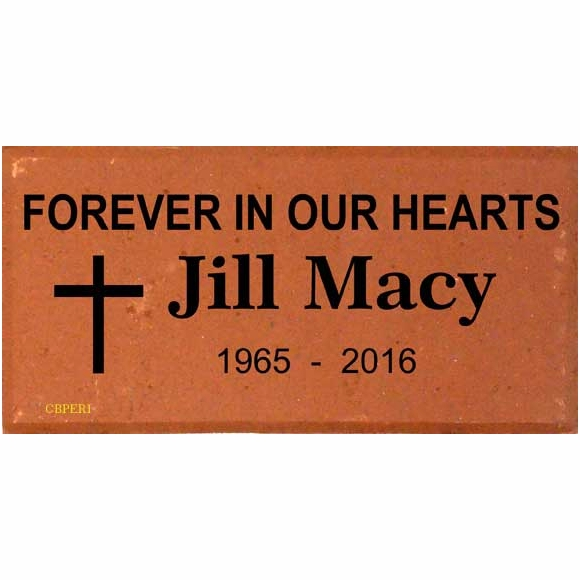 Personalized Brick Memorial with Religious Symbol