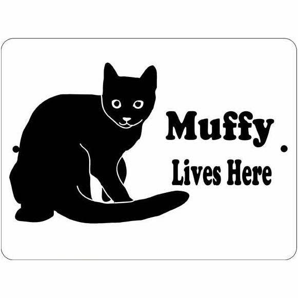 Personalized Cat House Name Sign